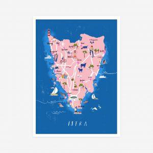 Istra map print