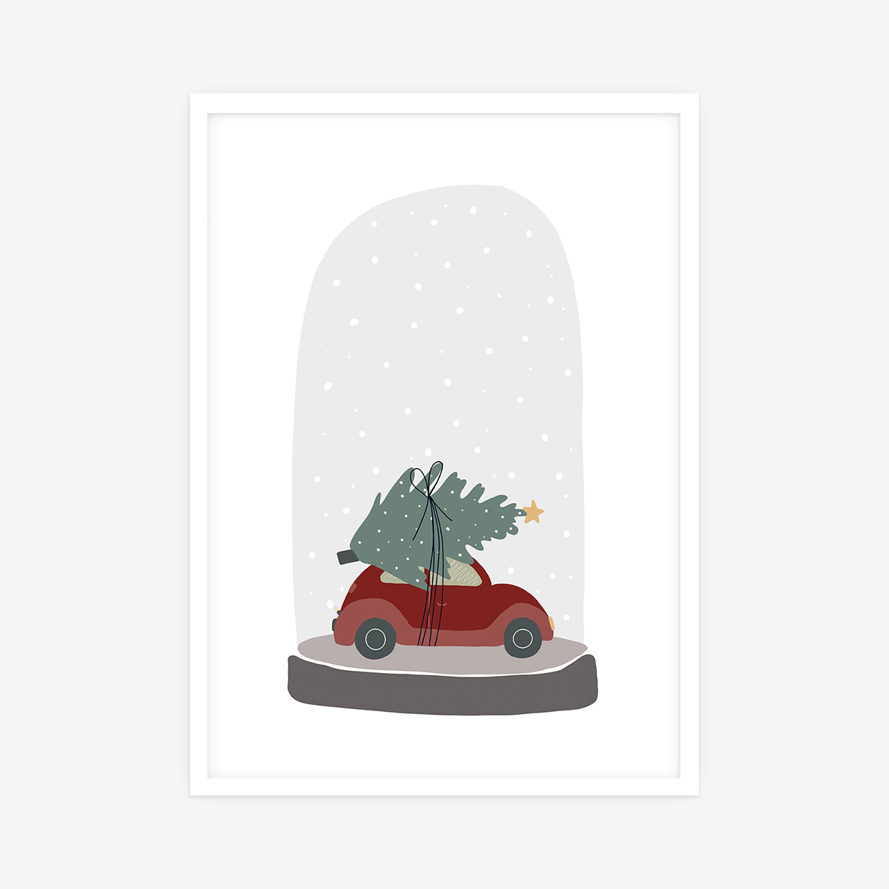 Carrying Christmas Tree poster