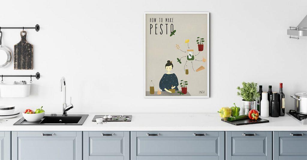 Pesto, poster na kuhinjskom zidu