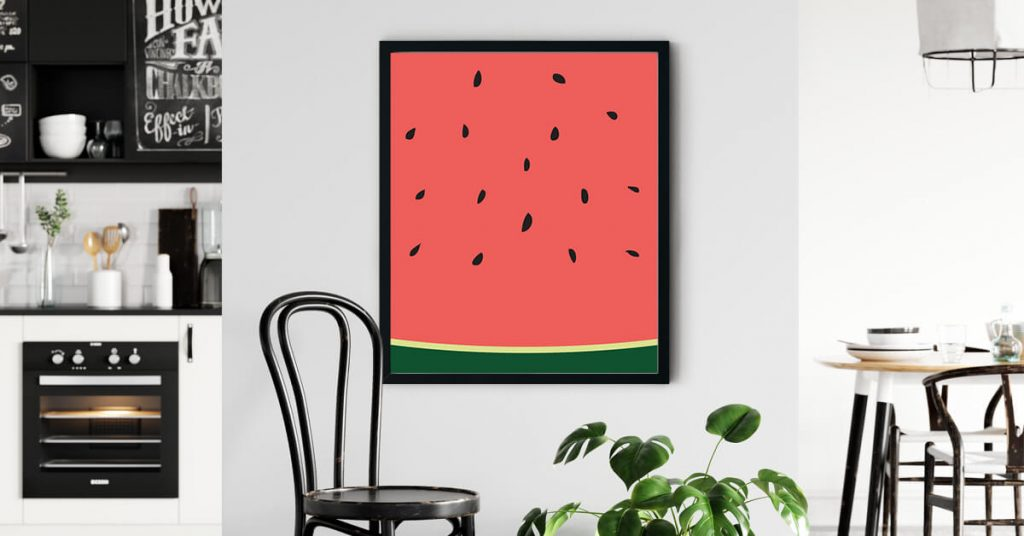 Poster lubenice na kuhinjskom zidu