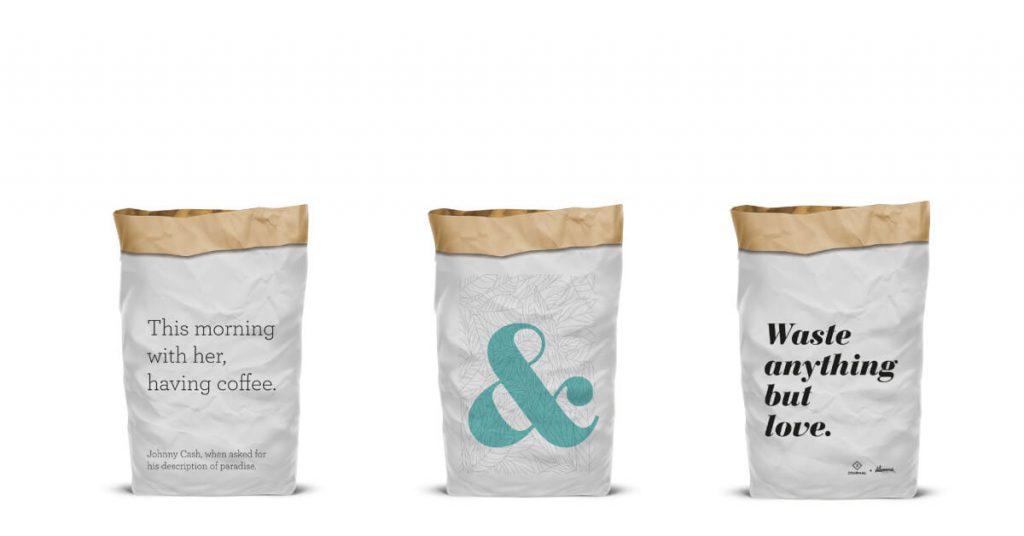 tri vreće za recikliranje papira